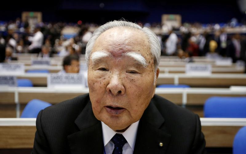 Suzuki Motor's 91-year-old chairman waves goodbye after decades-long career