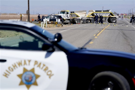At least 13 killed in crash with semitruck in Southern California