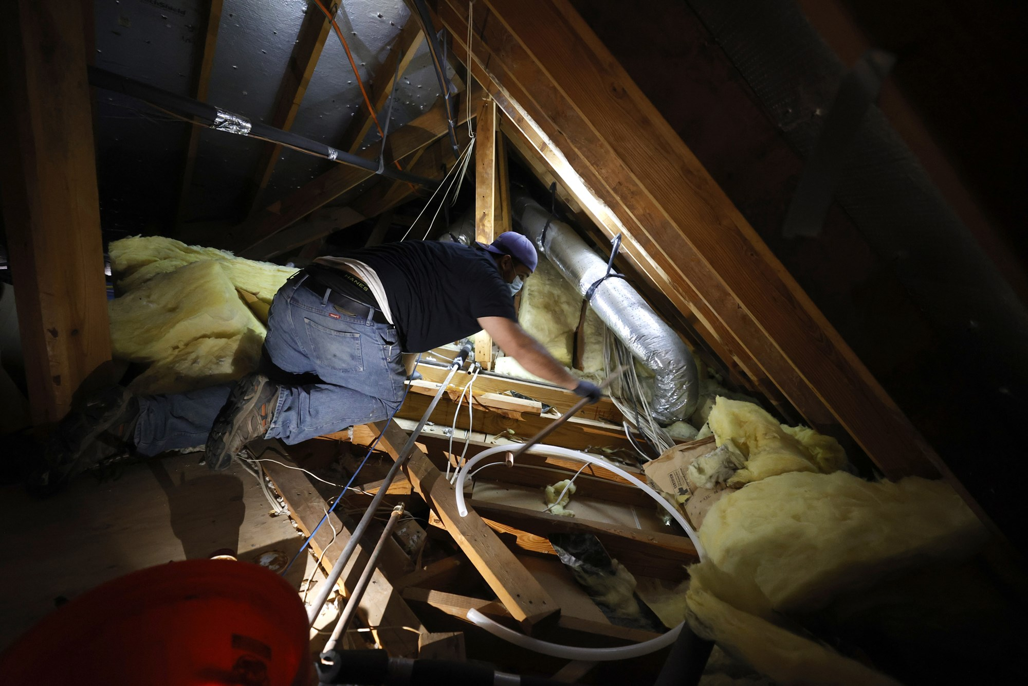 Plumbers from around the U.S. volunteer to aid a struggling Texas